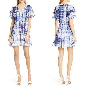 Tanya Taylor Rhett Dress Blue White Tie-Dye 12